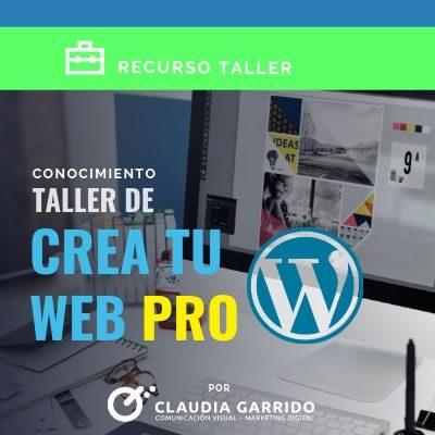 Claudia Garrido Recursos Creando tu Sitio Web PRO